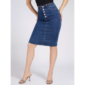 GUESS 80S LONGUETTE SKIRT W1RD0MD4663 SO CHIC