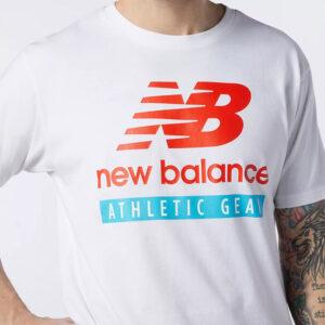 NEW BALANCE MT11517 ESSENTIALS LOGO TEE WHITE