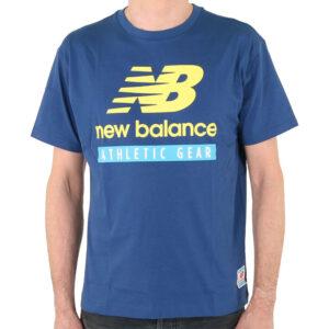 NEW BALANCE MT11517 ESSENTIALS LOGO TEE CAPTAIN BLUE
