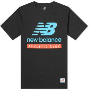 NEW BALANCE MT11517 ESSENTIALS LOGO TEE BLACK