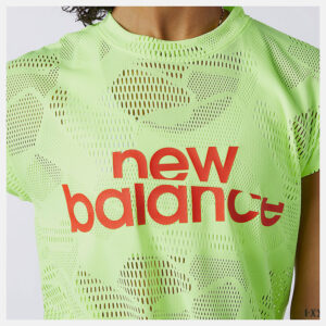 NEW BALANCE WT11154 ACHIEVER COLLIDE OPEN MESH TEE BLEACHED LIME GLO