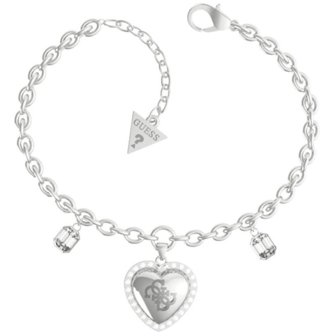 GUESS STEEL THAT'S AMORE JUBB01076JWRHS SILVER