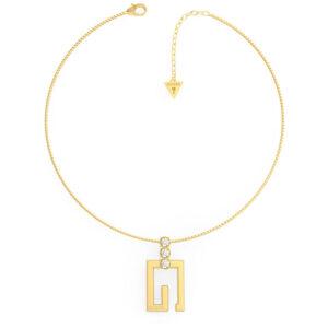 GUESS STEEL G SOLITAIRE JUBN01018JWYGT/U GOLD